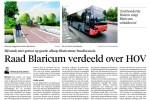 Stand van zaken HOV-dossier in Blaricum