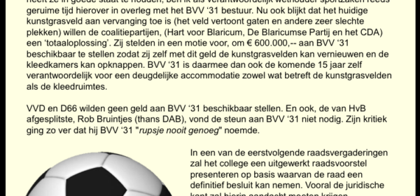 Vervolg velden BVV'31: beeldvorming en zorgvuldigheid in bestuur
